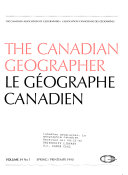 The Canadian geographer. Le geographie canadien