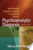 Psychoanalytic Diagnosis Book
