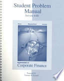 Student Problem Manual for Use with Fundamentals of Corporate Finance, Fifth Edition, Stephen A. Ross, Randolph W. Westerfield, Bradford D.Jordan