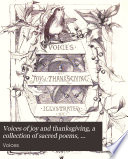 Voices Of Joy And Thanksgiving A Collection Of Sacred Poems Compiled By C E B
