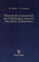 Historische Grammatik der hebräischen Sprache des Alten ...