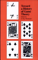 Toward a History of Game Theory