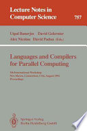 Languages And Compilers For Parallel Computing Book PDF