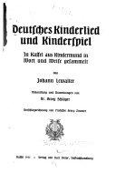 Deutsches Kinderlied und Kinderspiel