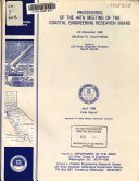 Proceedings of the 44th Meeting of the Coastal Engineering Research Board Book