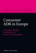 Consumer ADR in Europe Pdf/ePub eBook