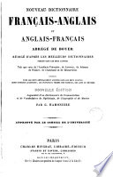 New dictionary French and English and English and French abridged from Boyer