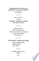 Decisions of the Workmen's Compensation Board