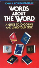 Words about the Word Book