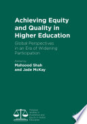 Achieving Equity and Quality in Higher Education