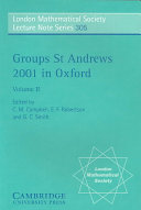 Groups St Andrews 2001 in Oxford: