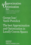 The Best Approximation and Optimization in Locally Convex Spaces