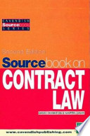 Sourcebook On Contract Law