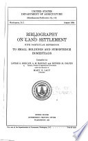 Bibliography On Land Settlement