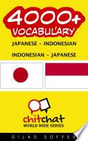 4000+ Japanese - Indonesian Indonesian - Japanese Vocabulary