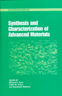 Synthesis And Characterization Of Advanced Materials Book PDF