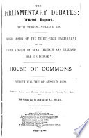 The Parliamentary Debates (official Report).