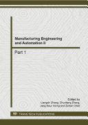 Manufacturing Engineering and Automation II [Pdf/ePub] eBook