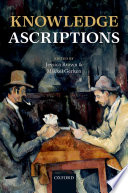 Knowledge Ascriptions