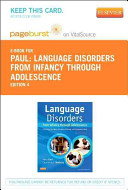 Language Disorders from Infancy Through Adolescence   Pageburst E Book on Vitalsource  Retail Access Card  Book