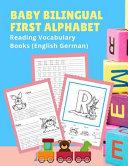 Baby Bilingual First Alphabet Reading Vocabulary Books (English German)
