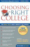 Choosing the Right College 2012   2013