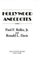 Hollywood Anecdotes