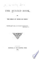 The Buried Book, Or, The Bible of Henri de Dibon
