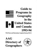Guide to Programs of Geography in the United States and Canada