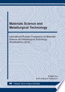 Materials Science And Metallurgical Technology Book PDF