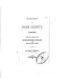 History of Door County  Wisconsin