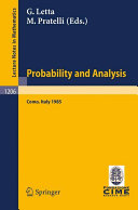 Probability and Analysis Book