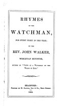 Rhymes of the Watchman, for Every Night in the Year