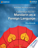 Books - Cambridge Igcse� Mandarin As A Foreign Language Workbook | ISBN 9781316629895