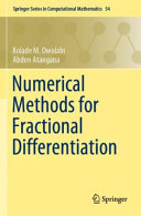 Numerical Methods for Fractional Differentiation Book
