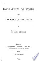 Biographies of Words and the Home of the Aryas