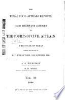 The Texas Civil Appeals Reports