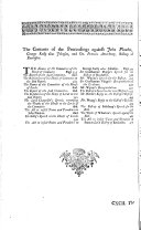 Pdf A Complete Collection of State-trials, and Proceedings for High-treason, and Other Crimes and Misdemeanours: 1715-1725. An appendix, containing several records relating to the foregoing trials and proceedings