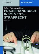 Praxishandbuch Insolvenzstrafrecht [Pdf/ePub] eBook