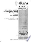 Minimizing Liability for Hazardous Waste Management
