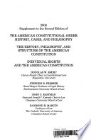 2008 Supplement to the Second Edition of the American Constitutional Order