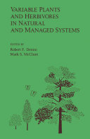 Variable plants and herbivores in natural and managed systems