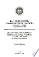 Dictionary of business, economics and finance, English-Albanian, Albanian-English