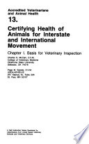 Certifying Health Of Animals For Interstate And International Movement 6 V