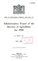 Report of the Director of Agriculture