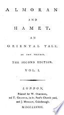Almoran And Hamet An Oriental Tale The Dedication Signed John Hawkesworth In Two Volumes The Second Edition