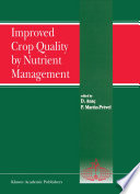 Improved Crop Quality By Nutrient Management Book PDF