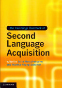 The Cambridge Handbook of Second Language Acquisition