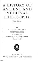 A History Of Philosophy A History Of Ancient And Medieval Philosophy