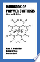 Handbook Of Polymer Synthesis Book PDF